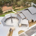 Expansive areas of quality metal roofing on a large church in Kenthurst NSW