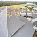 Seamless metal roofing on a large church in Kenthurst NSW